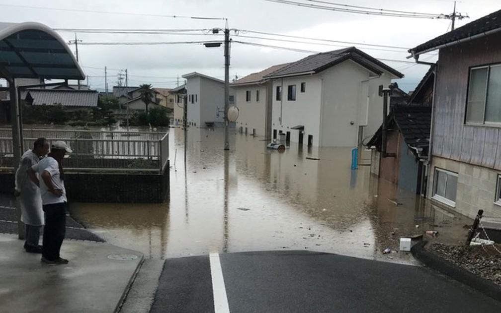 103399001 guaseaproximadacasadebrasileiroemkurashiki - O brasileiro que perdeu a casa em enchente no Japão e há dois meses dorme em uma escola
