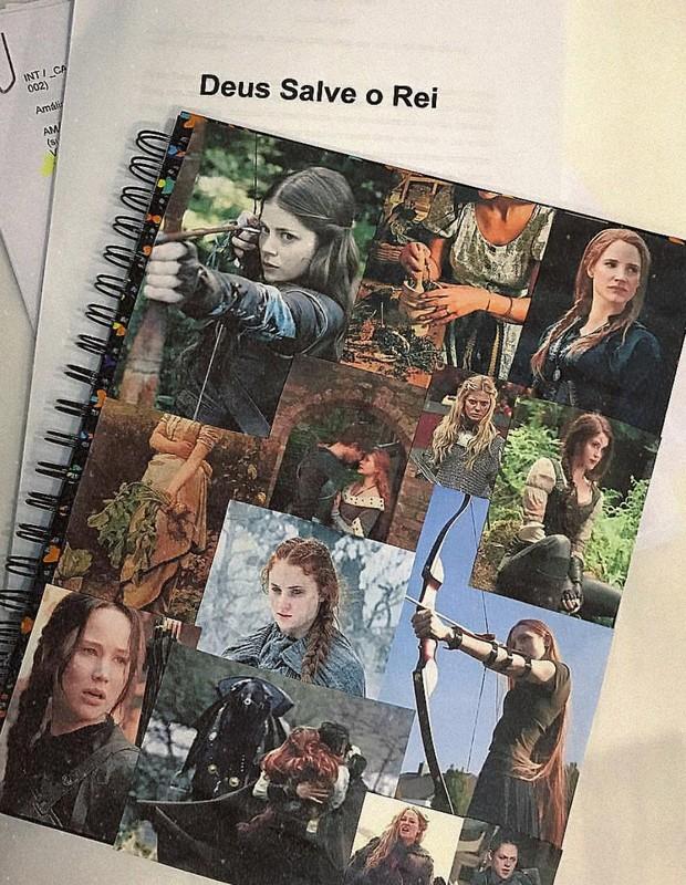 Caderno de estudos de Marina Ruy Barbosa (Foto: Reprodução/Instagram)
