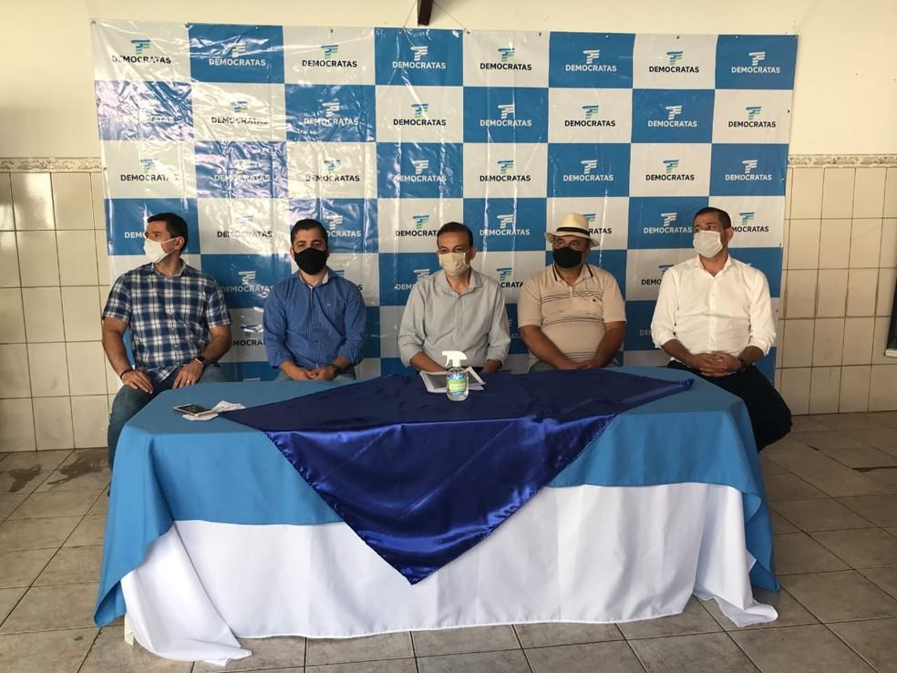 Democratas oficializa candidatura de Jadson Heleno à Prefeitura de Ipatinga — Foto: Tarciane Vasconcelos/Inter TV dos Vales