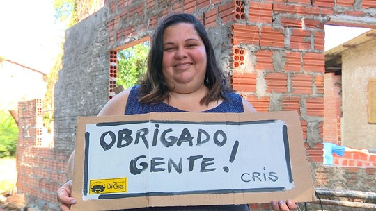 'É um sonho', diz ex-moradora de rua de Viamão que vai ganhar casa nova com doações da comunidade