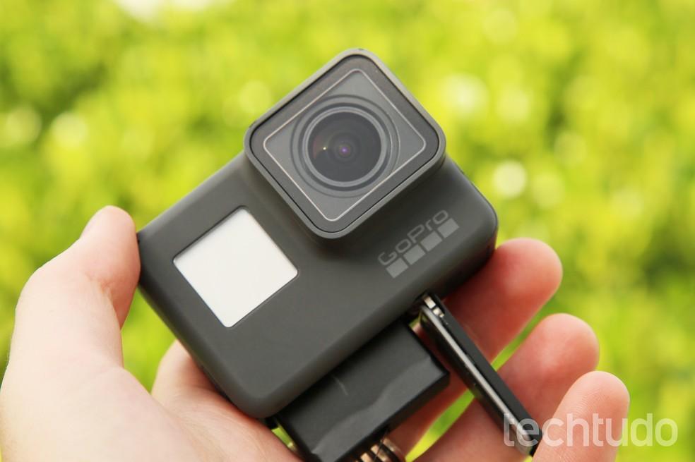 A bateria da GoPro Hero6 Black é a mesma do modelo anterior (Foto: Luciana Maline/ Techtudo)