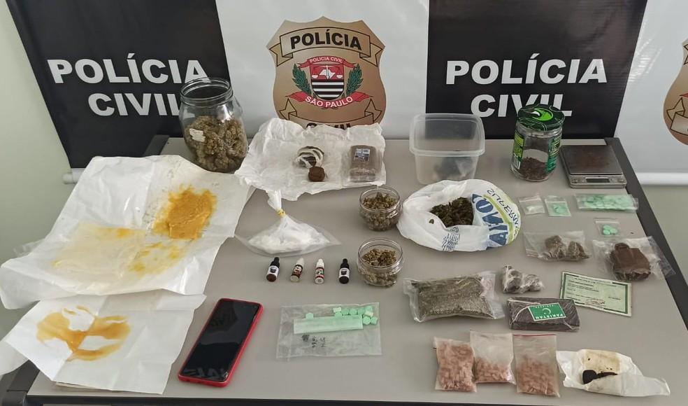 Polícia Civil prende 7 suspeitos de tráfico de drogas em Bauru (SP) — Foto: Polícia Civil/ Divulgação