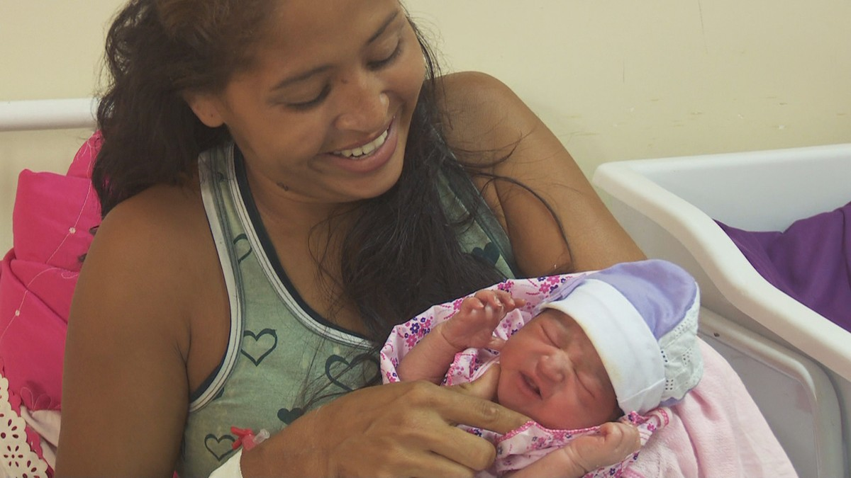 Primeiro bebê de 2018 nascido em Roraima é uma menina e se chama Helena Vitória