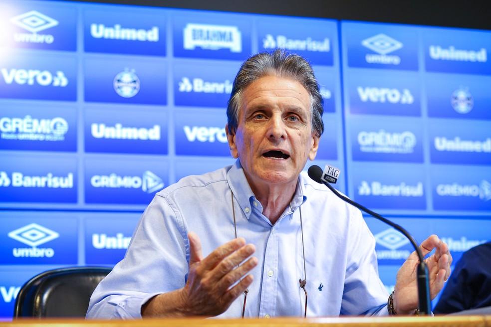 Paulo Luz, vice de futebol do Grêmio — Foto: Lucas Uebel/Divulgação Grêmio