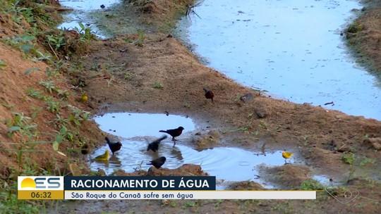 Moradores de São Roque do Canaã, ES, vivem racionamento de água há 2 meses