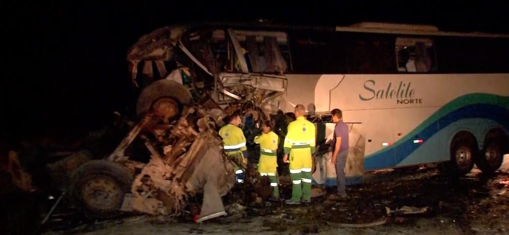 Acidente na BR-163 em Diamantino matou quatro pessoas — Foto: TV Centro América