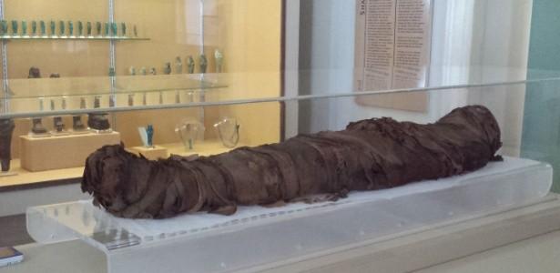 Múmia exposta no Museu Nacional (Foto: Divulgação)