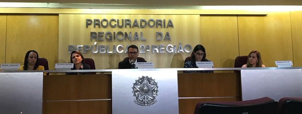 Procuradores da República detalham denúncia contra Jorge Picciani, Paulo Melo, Edson Albertassi e outras 16 pessoas (Foto: Henrique Coelho/ G1)