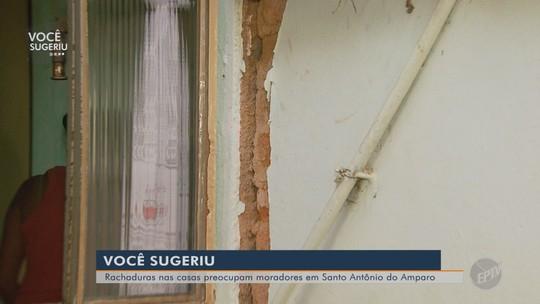 Rachaduras em paredes de casas preocupam moradores de Santo Antônio do Amparo, MG