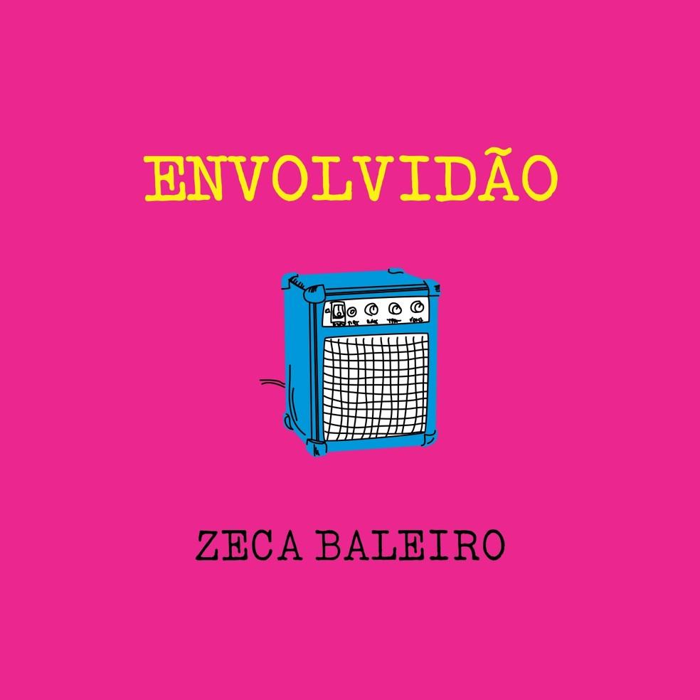 Capa do single 'Envolvidão', de Zeca Baleiro (Foto: Divulgação / Saravá Discos)