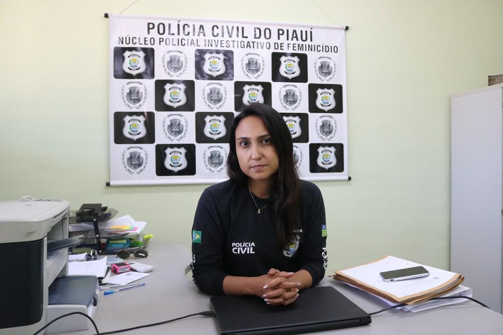 Luana Alves, delegada do Núcleo Policial Investigativo de Feminicídio  — Foto: Lucas Pessoa/G1 PI
