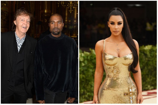 Paul McCartney, Kanye West, Kim Kardashian (Foto: Getty Images)