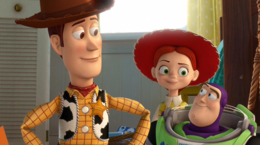 Personagens de Toy Story interagem com público no shopping — Foto: Reprodução