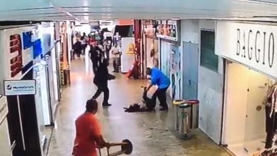 Mulher é esfaqueada em shopping na Tijuca; vídeo