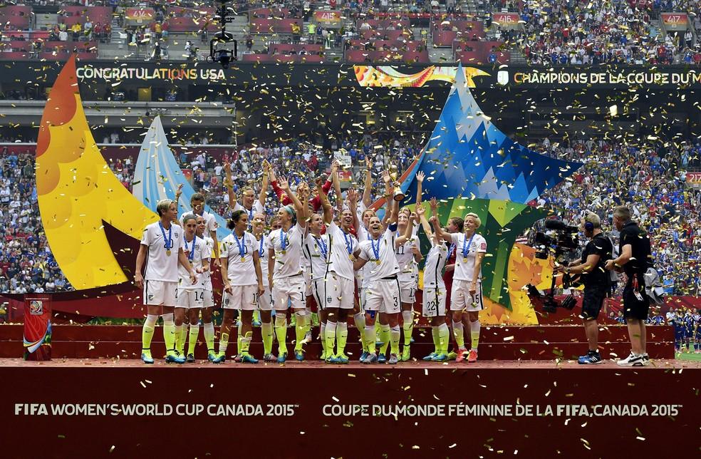 Estados Unidos foram campeões da Copa no ano passado — Foto: AFP