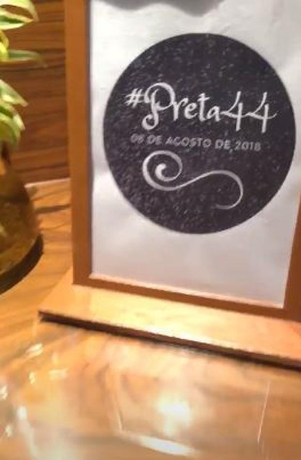 Suíte que Preta Gil comemorou seu aniversário no Rio (Foto: Reprodução/Instagram)