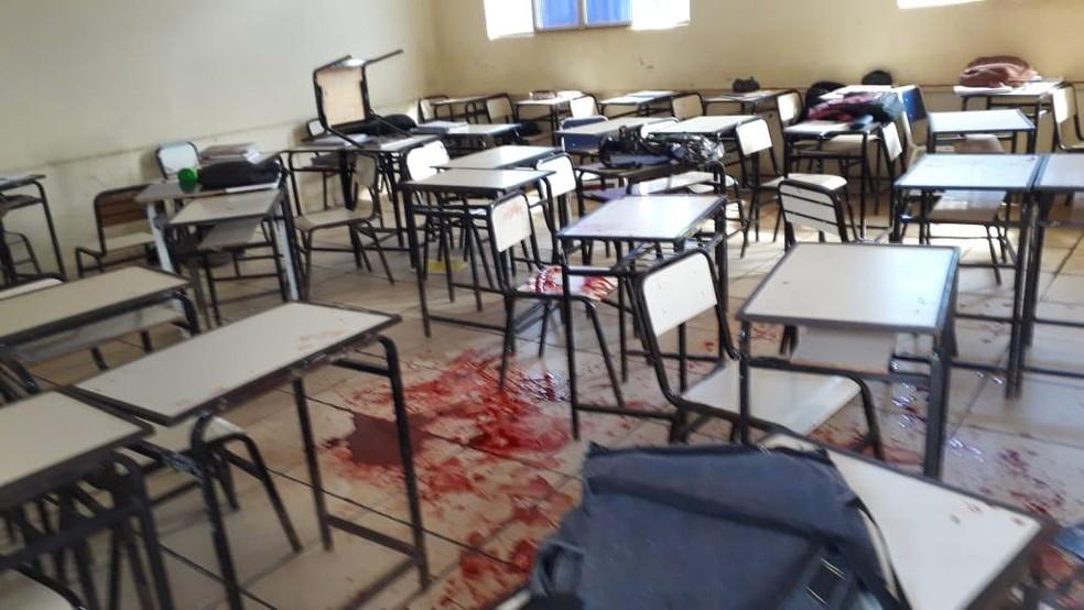 Aluno invadiu escola e atirou contra colegas na zona rural de Caraí — Foto: Polyana Mattos/Arquivo Pessoal
