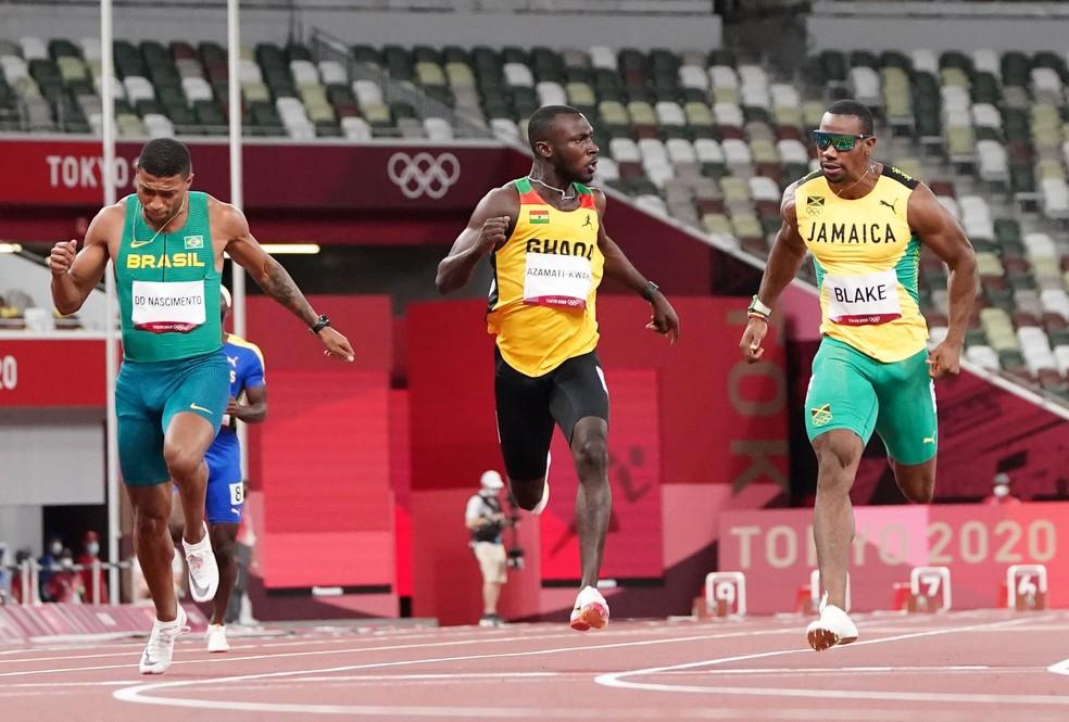 Rodrigo Do Nascimento em classificatória dos 100m livre — Foto: REUTERS/Lucy Nicholson