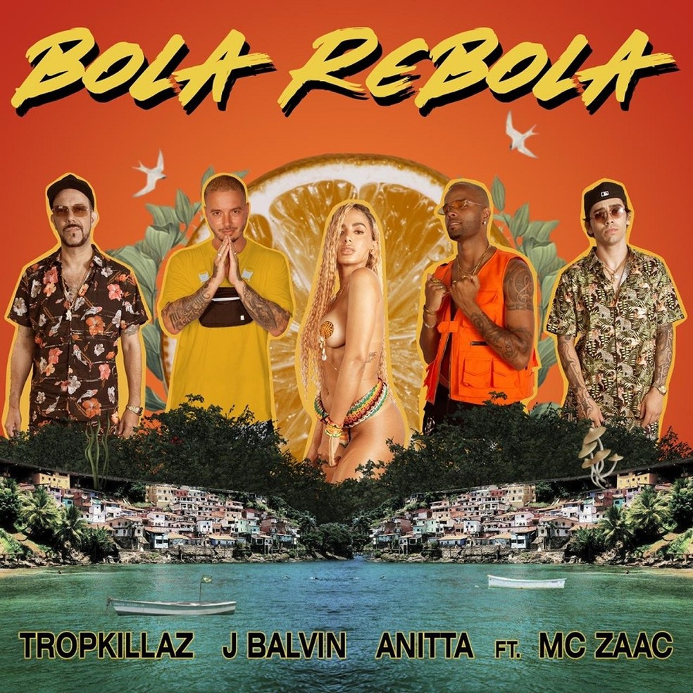 Capa do single 'Bola rebola', de Anitta com Tropkillaz, J Balvin e MC Zaac — Foto: Divulgação