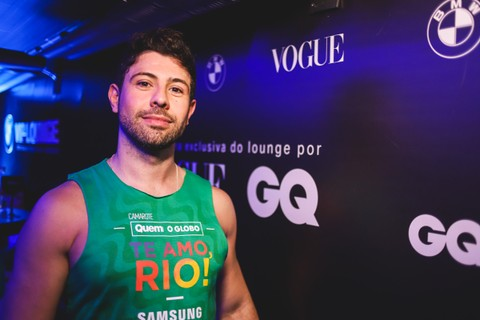 Jorge Junior, Head de Marketing da BMW, no Lounge VIP da BMW com Vogue e GQ