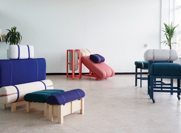 Coleção de poltronas para home office do designer Geoffrey Pascal (Foto: Deezen/ Reprodução)