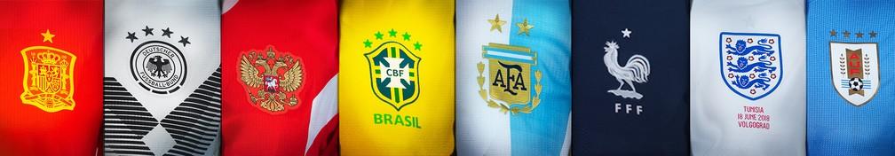 9e0e5ab24b0cc As camisas das 32 seleções da Copa