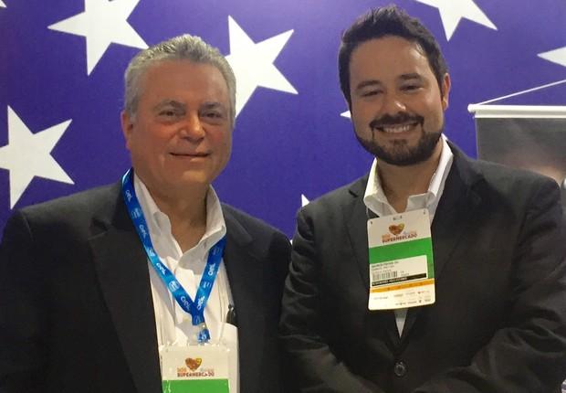 Juan Garcia Mayor e Gabriel Freitas, representantes de vendas da Quirch Foods  (Foto: Mariane Reghin)