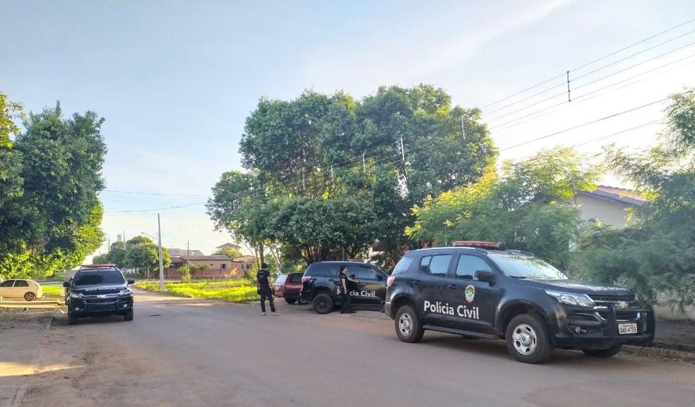 Polícia Civil na operação Luz na Infância 6, em MS — Foto: Polícia Civil/Divulgação