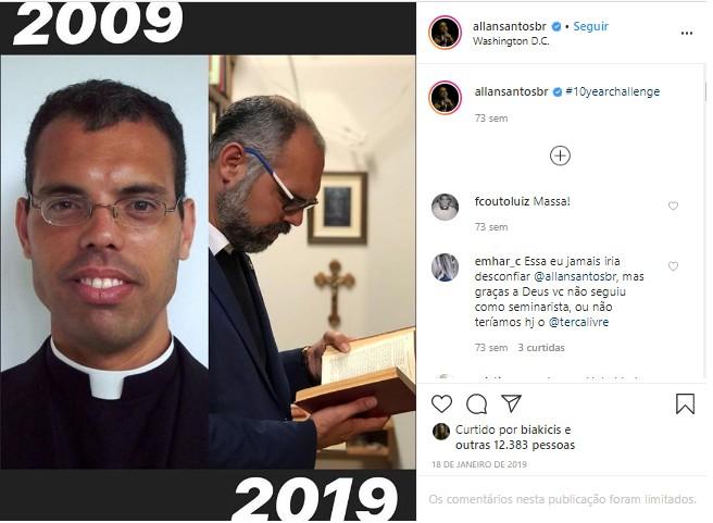 Allan dos Santos foi seminarista antes de se tornar blogueiro