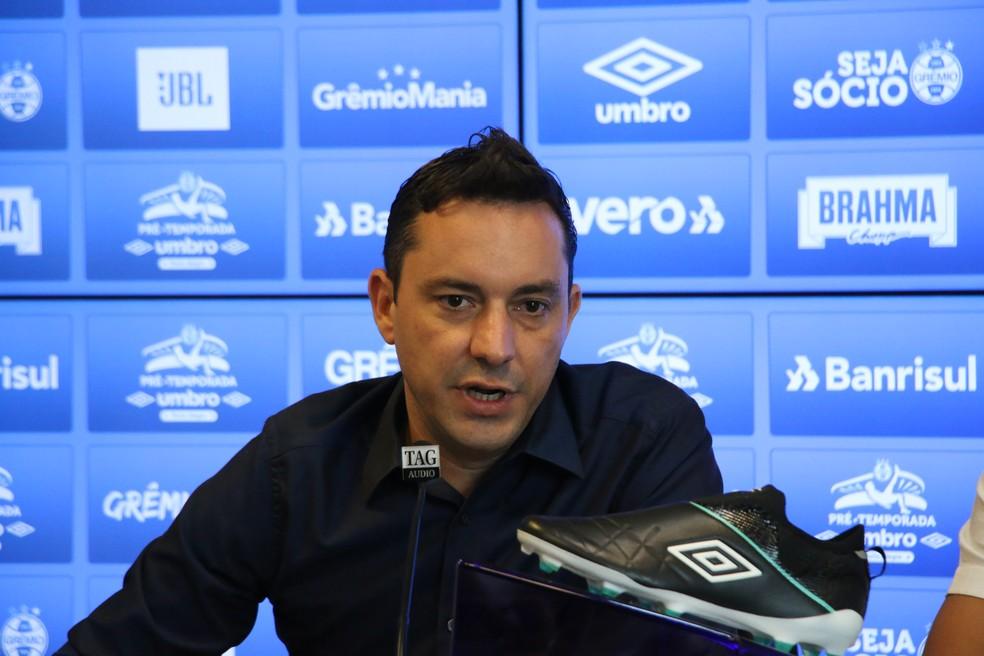 Klauss Câmara, executivo do Grêmio — Foto: Eduardo Moura/ge.globo