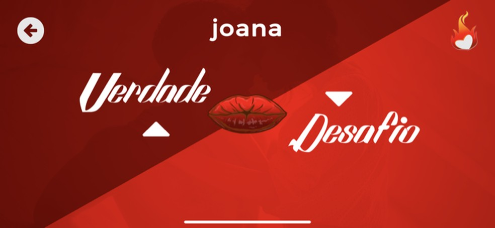 Role do game Verdade ou Desafio do aplicativo Sex Roleta — Foto: Reprodução/Marvin Costa