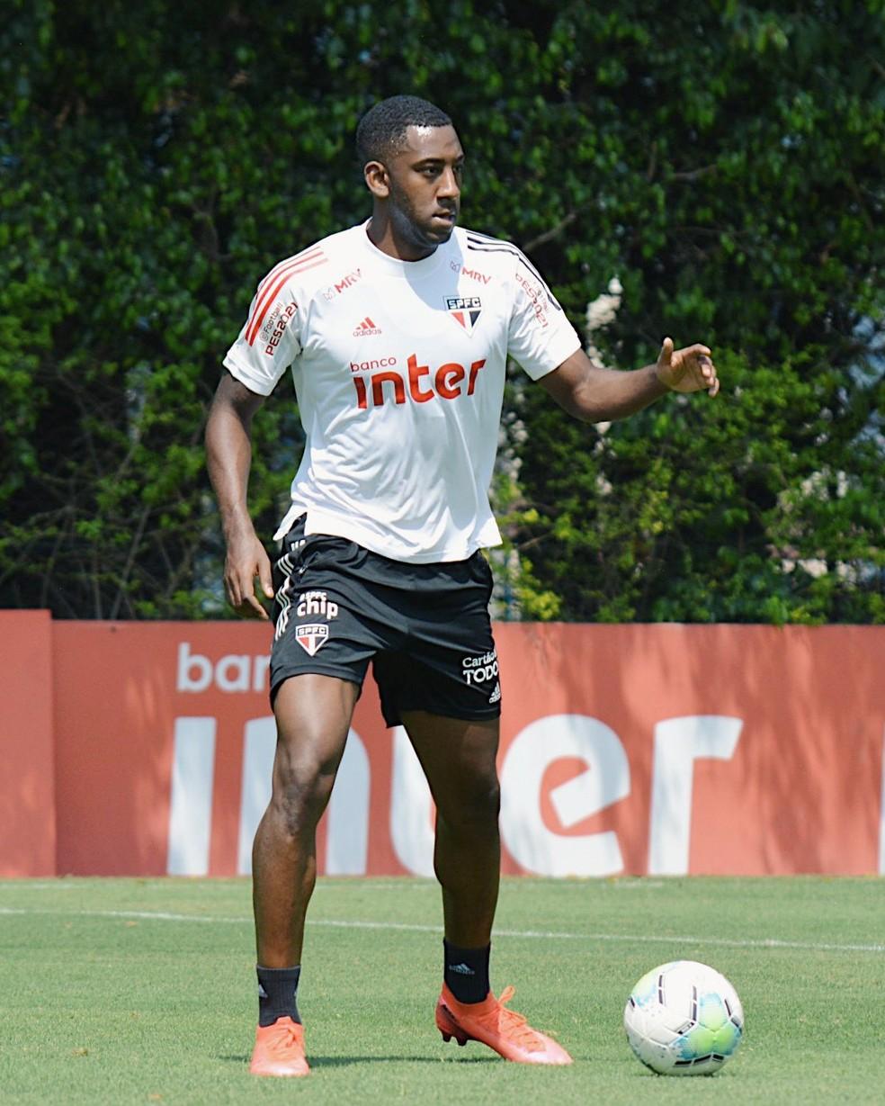 Gonzalo Carneiro São Paulo treino — Foto: Reprodução/Twitter