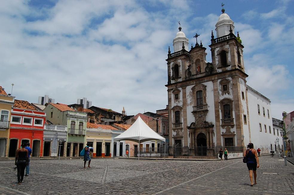 Pátio de São Pedro fica no Centro do Recife (Foto: G1/Arquivo)