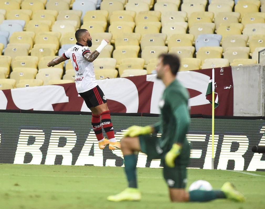 Gabigol, Fluminense x Flamengo — Foto: André Durão