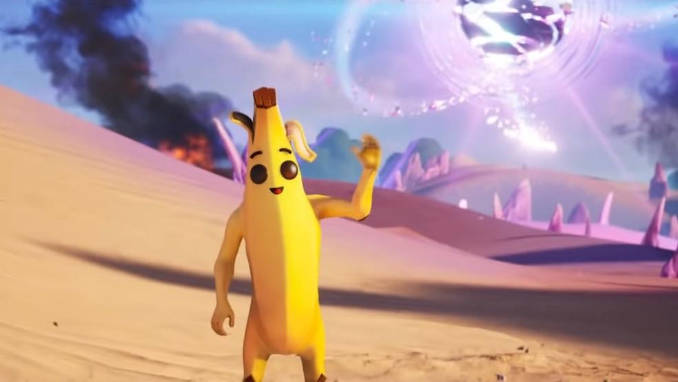 Bananado é uma das skins que mais marcam presença nos trailers de Fortnite — Foto: Divulgação/Epic Games