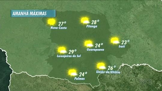 O sol predomina amanhã em boa parte do dia