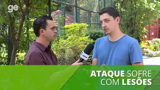 Léo volta ao São Paulo após quase dois meses e explica diferença do seu jogo para o de Reinaldo