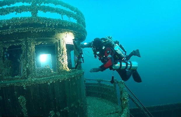 Navio encontrado após 20 anos (Foto: Cortesia Greg Hilliard)