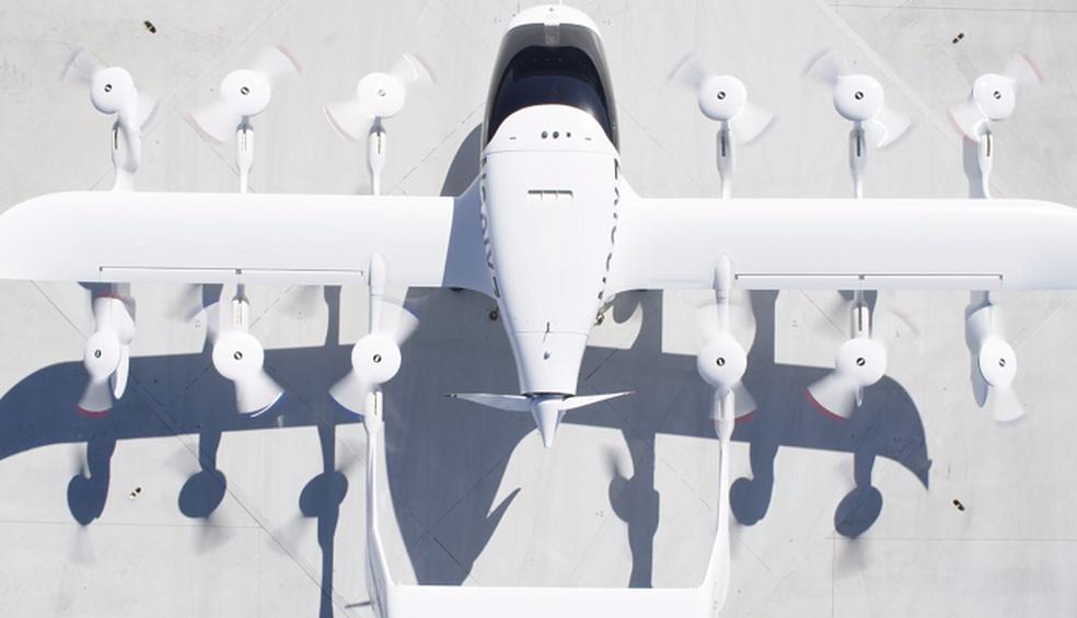 Asas traz motores semelhantes a um drone (Foto: Divulgação/Kitty Hawk)