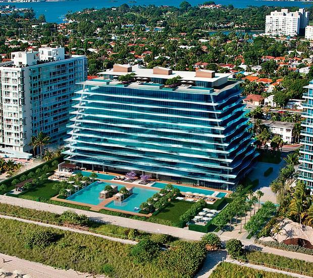 Prédio assinado pela grife FENDI tem 12 andares com 58 residências, sendo que 3 são coberturas de luxo (Foto: Divulgação)