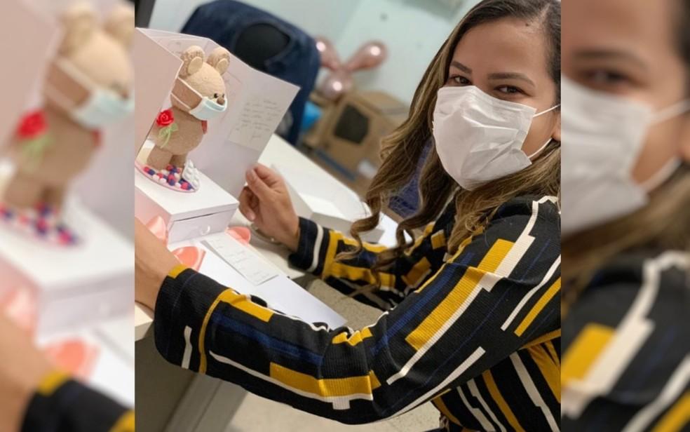 Enfermeira Patricia Lisboa após se recuperar de Covid-19 volta a trabalhar — Foto: Arquivo pessoal/Patricia Lisboa