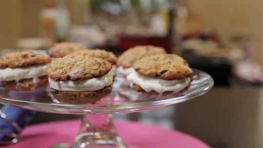 Hambúguer de Cookie com Recheio de Sorvete