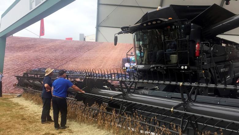 Máquina agrícola exposta na Agrishow, em Ribeirão Preto (SP) (Foto: REUTERS/Marcelo Teixeira)