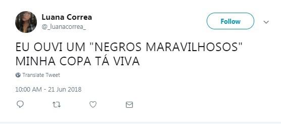 Internauta comemora bordão dito por Luis Roberto (Foto: Reprodução / Twitter)