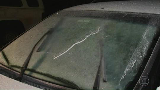 Pelo 2º dia, SC amanhece com temperaturas negativas; 68 cidades marcaram abaixo de 5ºC