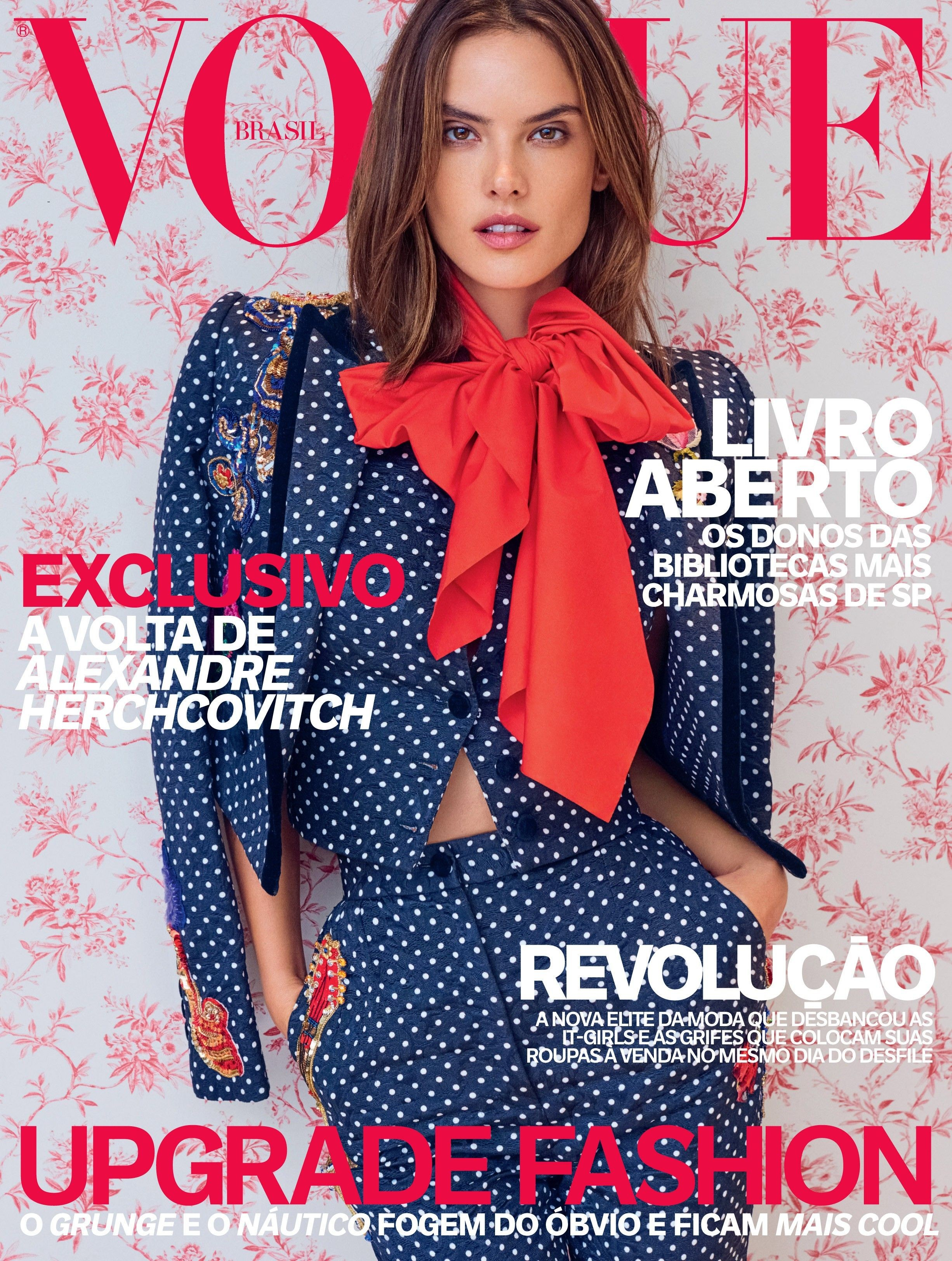 Alessandra Ambrosio on the cover of the April issue of 2016 (picture: Mariano Vivanco)