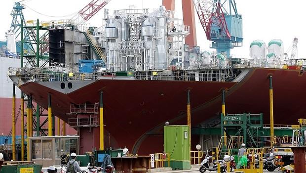 Estaleiro da Hyundai Heavy Industries (Foto: Chung Sung-Jun/Getty Images)