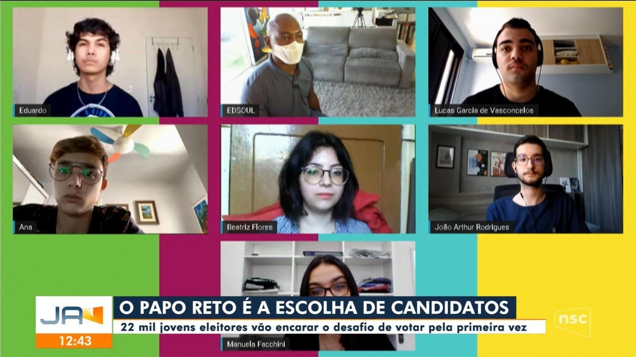 Papo Reto: Cerca de 22 mil jovens vão votar pela primeira vez neste ano em SC