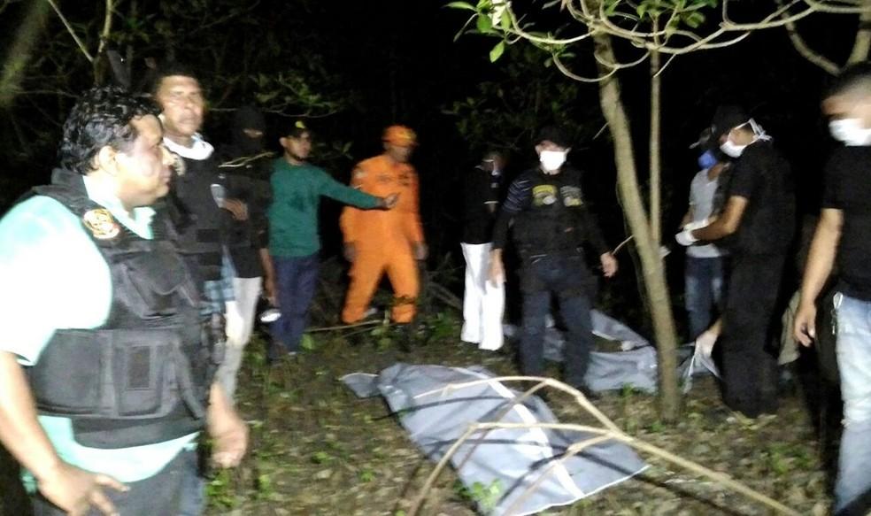 Corpo dos jovens foi encontrado em mata fechada em Bacabeira — Foto: Divulgação/Polícia Civil