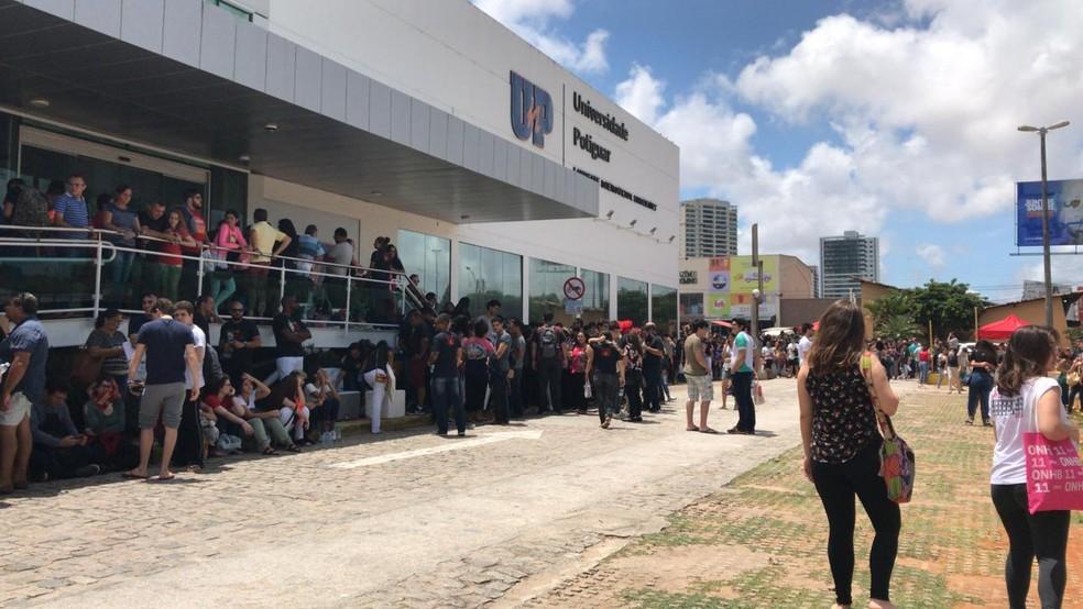 ENEM 2019 em um dos principais locais de prova em Natal. (Arquivo) — Foto: Gabriela Fernandes/Inter TV Cabugi